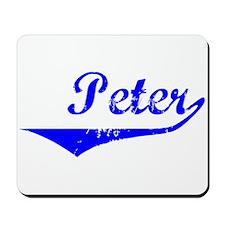 Peter Vintage (Blue) Mousepad