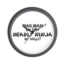Mailman Deadly Ninja Wall Clock