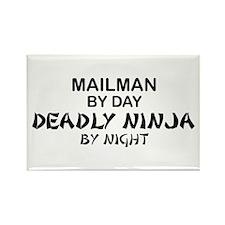 Mailman Deadly Ninja Rectangle Magnet