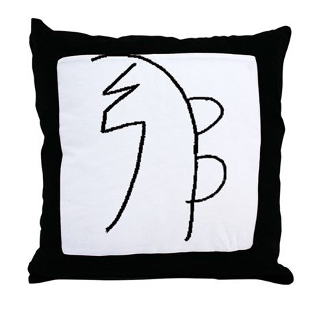 Se-he-ki (Mrs. Takata Hand Drawn) Throw Pillow