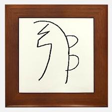 Se-he-ki (Mrs. Takata Hand Drawn) Framed Tile