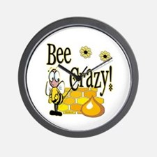 Bee Crazy Wall Clock