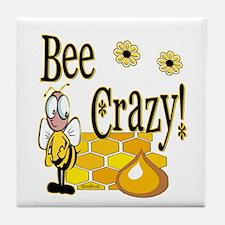 Bee Crazy Tile Coaster