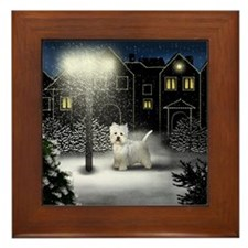 WEST HIGHLAND TERRIER DOG Framed Tile