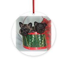 Little Drummer Cairn Pups Ornament (Round)