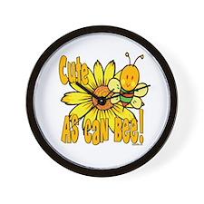 Cute As Can Bee Wall Clock