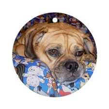 Puggle Ornament (Round)