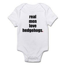 Real Men love hedgehogs Infant Bodysuit