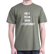 Real Men love hedgehogs T-Shirt