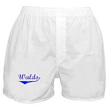 Waldo Vintage (Blue) Boxer Shorts