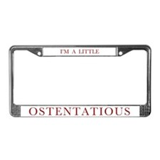 Ostentatious License Plate Frame