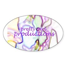 Pretty Girl Productions Logo Oval Decal