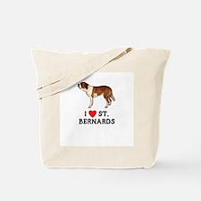 I Love St. Bernards Tote Bag