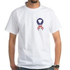 Patriotic Eagle & American Ribbon White T-Shirt