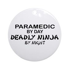 Paramedic Deadly Ninja Ornament (Round)