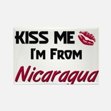Kiss Me I'm from Nicaragua Rectangle Magnet