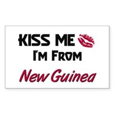 Kiss Me I'm from New Guinea Rectangle Decal
