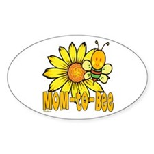 Mom-To-Bee Oval Decal