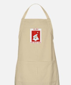 CLAY has been nice BBQ Apron