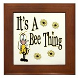 Bee Framed Tiles
