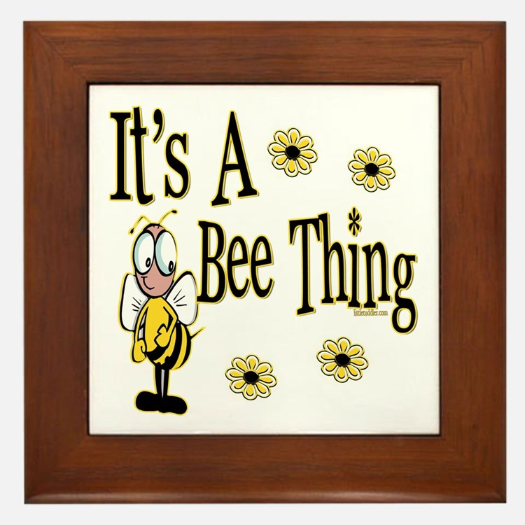 Bee Thing! Framed Tile