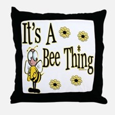 Bee Thing! Throw Pillow