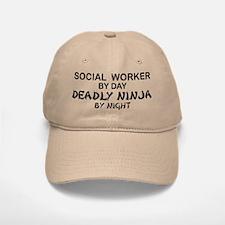Social Worker Deadly Ninja Baseball Baseball Cap
