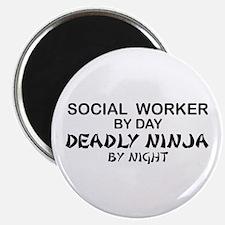 Social Worker Deadly Ninja Magnet