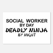 Social Worker Deadly Ninja Postcards (Package of 8