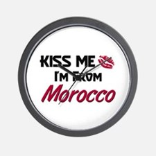 Kiss Me I'm from Morocco Wall Clock