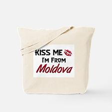 Kiss Me I'm from Moldova Tote Bag