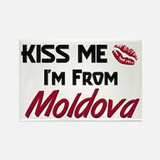 Kiss Me I'm from Moldova Rectangle Magnet