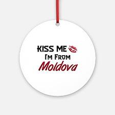 Kiss Me I'm from Moldova Ornament (Round)