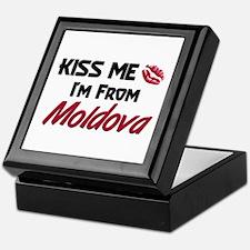 Kiss Me I'm from Moldova Keepsake Box