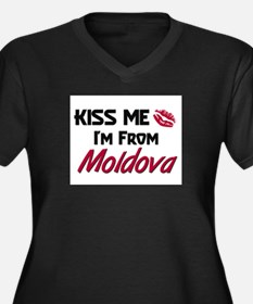 Kiss Me I'm from Moldova Women's Plus Size V-Neck