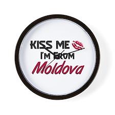 Kiss Me I'm from Moldova Wall Clock