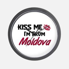Kiss Me I'm from Moldova Wall Clock
