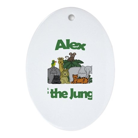 Alex of the Jungle Oval Ornament
