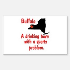 Drinking Town Rectangle Decal