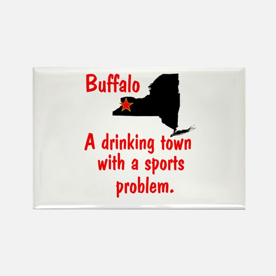 Drinking Town Rectangle Magnet