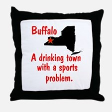 Drinking Town Throw Pillow