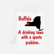 Drinking Town Greeting Card