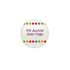 My Auntie does Yoga Mini Button (10 pack)