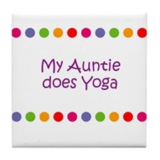 My Auntie does Yoga Tile Coaster
