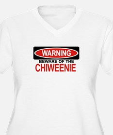 CHIWEENIE Womes Plus-Size V-Neck T-Shirt