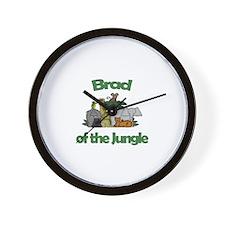 Brad of the Jungle  Wall Clock