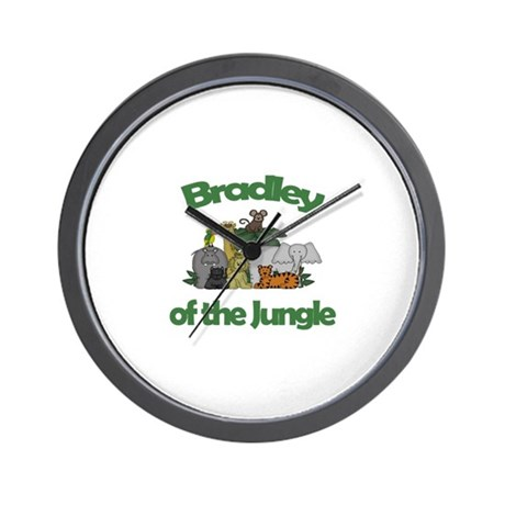 Bradley of the Jungle Wall Clock