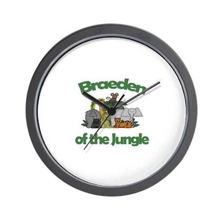 Braeden of the Jungle Wall Clock