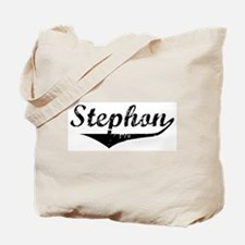 Stephon Vintage (Black) Tote Bag