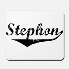 Stephon Vintage (Black) Mousepad